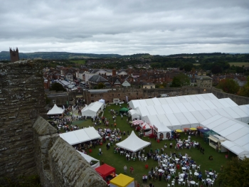 A medieval castle is a fairly splendid setting for a food fest