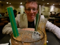 Joy! In Singapore we found a drink flavoured (and garnished) with salty plums!