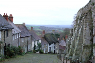 Hovis Hill, actually called Gold Hill, Shaftesbury