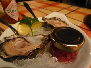Oysters, a good place to start at the Oyster Shack
