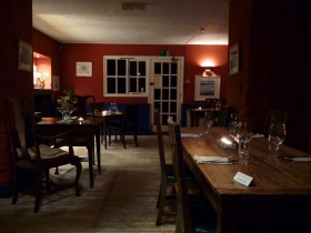The dining room in the Gurnard's Head