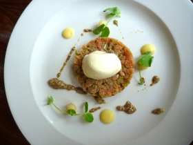 Can you even call it smoked salmon tartare? Doesn't it have to be raw?
