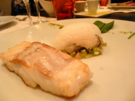 Cod and oysters at Septieme Peche