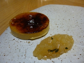Foie gras with a brulee topping, brilliant idea