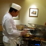 Chef Kondo at the wok