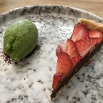 Choc tart AND BASIL SORBET OF GOD!